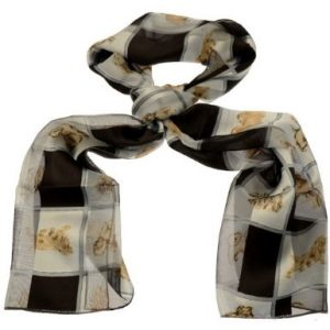 Multi Breed - Black & Cream Satin Scarf-0