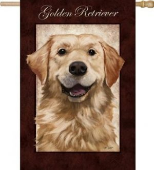 Golden Retriever Decorative House Flag-0