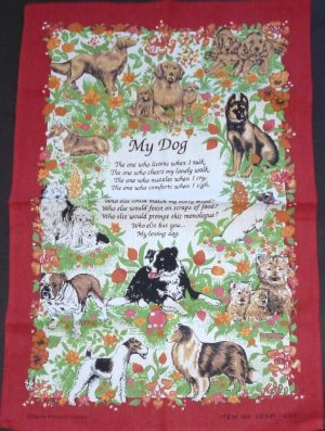 'My Dog' Poem Tea Towel-0