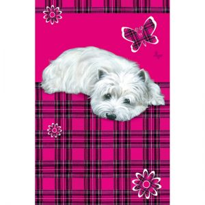 "Westie ""Highland Daisy"" Tea Towel-0"