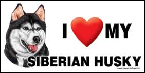 I (heart) my Siberian Husky Large Waterproof Magnet-0