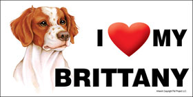 I (heart) my Brittany - Large Waterproof Magnet-0