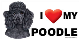 I (heart) my Poodle Large Waterproof Magnet-0