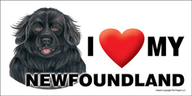 I (heart) my Newfoundland Large Waterproof Magnet-0