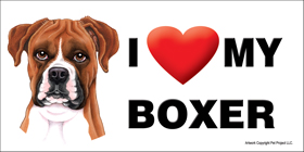 I (heart) my Boxer – Large Waterproof Magnet-0