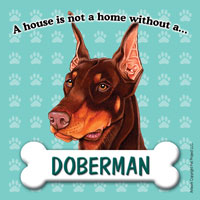 Doberman Fridge Magnet-0