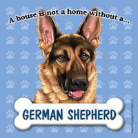 German Shepherd Fridge Magnet-0