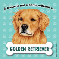 Golden Retriever Fridge Magnet-0