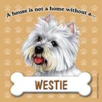 Westie Fridge Magnet-0