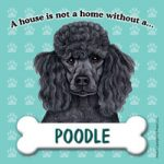 Poodle (black) - Fridge Magnet-0