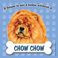 Chow Chow Fridge Magnet-0