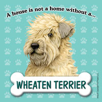 Wheaten Terrier Fridge Magnet-0