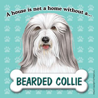 Bearded Collie Fridge Magnet-0