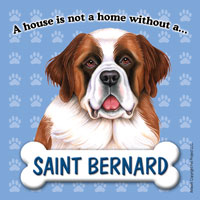 Saint Bernard Fridge Magnet-0