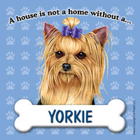 Yorkie Fridge Magnet-0