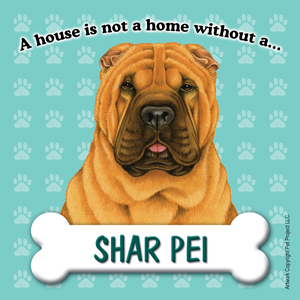 Shar Pei Fridge Magnet-0