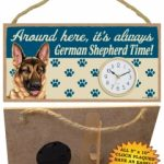 German Shepherd - Wooden Clock Plaque-0