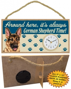 German Shepherd – Wooden Clock Plaque-0