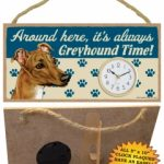 Greyhound - Wooden Clock Plaque-0