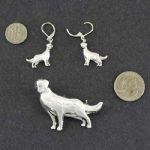 Irish Setter Brooch and Earrings set-0