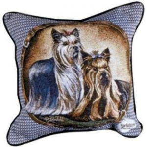 Yorkshire Terrier - Tapestry filled cushion-0