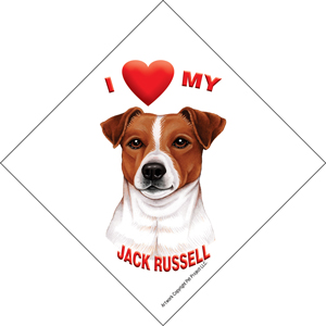 I (heart) my Jack Russell Suction Sign-0
