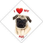 I (heart) my Pug Suction Sign-0