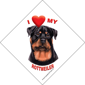 I (heart) my Rottweiler Suction Sign-0