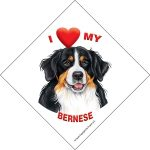 I (heart) my Bernese Suction Sign-0