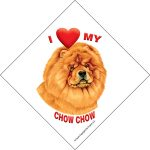 I (heart) my Chow Chow Suction Sign-0