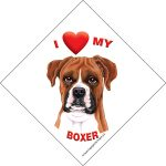 I (heart) my Boxer Suction Sign-0