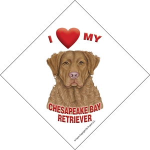 I (heart) my Chesapeake Bay Retriever Suction Sign-0