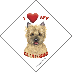 I (heart) my Cairn Terrier Suction Sign-0
