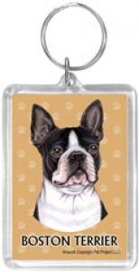Boston Terrier - Acrylic Keychain-0