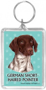 German Shorthaired Pointer- Acrylic Keychain--0