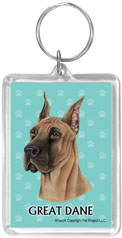 Great Dane- Acrylic Keychain-0