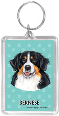 Bernese Mountain Dog - Acrylic Keychain-0