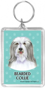 Bearded Collie - Acrylic Keychain-0