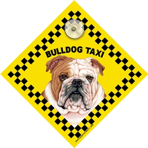 Bulldog (taxi) Suction Sign-0