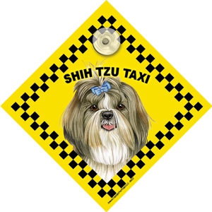 Shih Tzu (taxi) Suction Sign-0