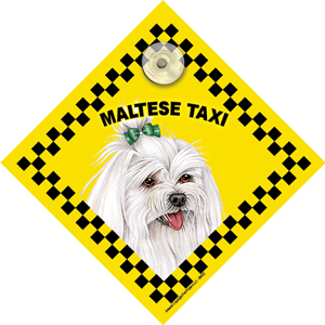 Maltese (taxi) Suction Sign-0