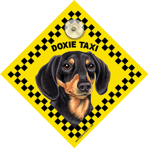 Doxie (taxi) Suction Sign-0