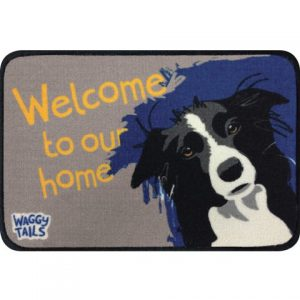 Border Collie - Waggy Tails Door Mat-0