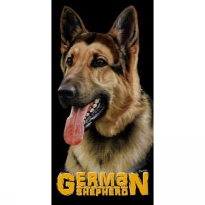German Shepherd 100% Cotton Beach Towel-0