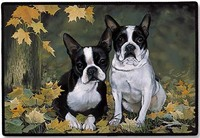 Boston terrier door Mat