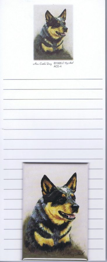 Australian Cattle Dog - List Pad & Magnet Combo-0