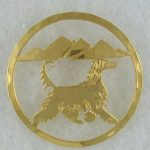 Afghan Gold plated Brooch-0