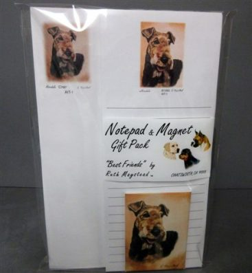 Airedale Terrier - List Pad & Magnet Combo-0