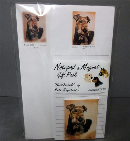 Airedale Terrier – List Pad & Magnet Combo-0