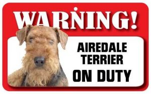 Airedale Warning Sign-0